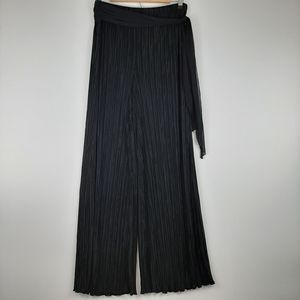 CONNECTED APPAREL Wide Leg Pants with Sash Size XL